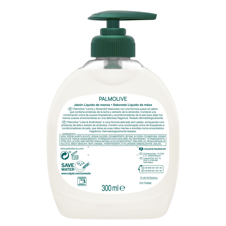 Jabón de manos leche y miel y almendras NB Palmolive 300 ml. -