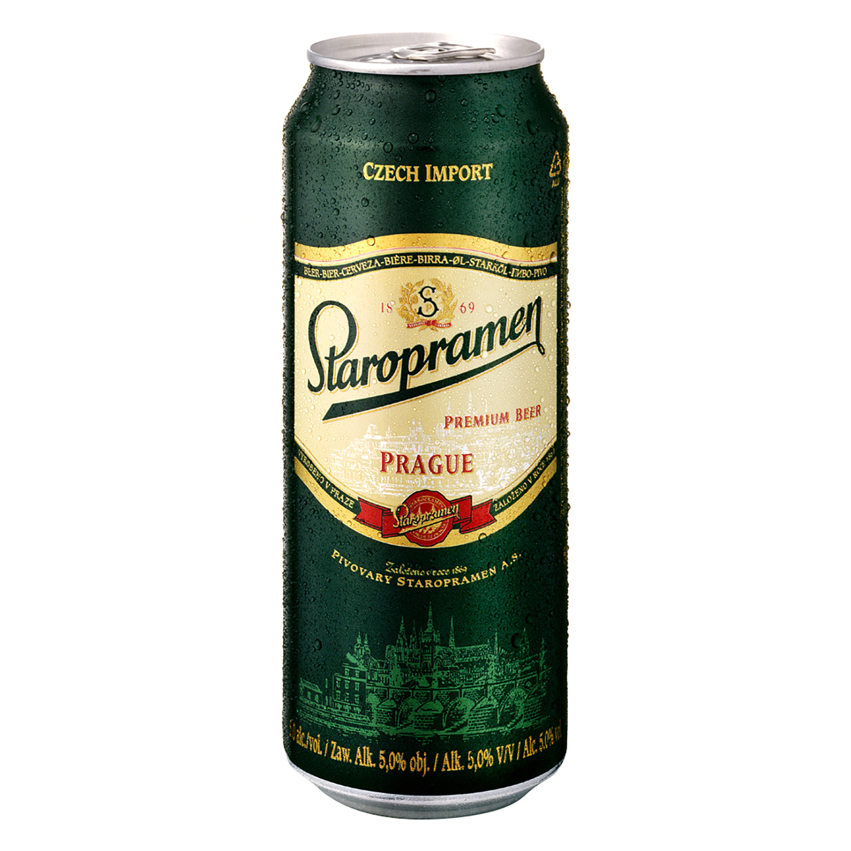 Cerveza Staropramen premium lata 50 cl.