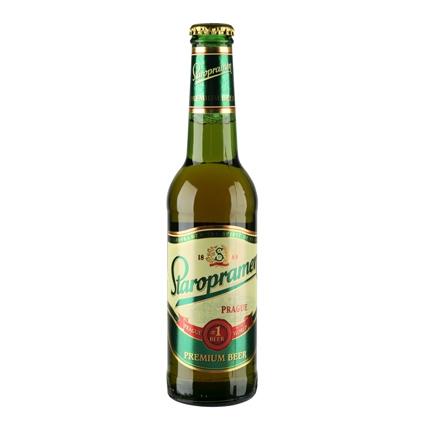 Cerveza Staropramen premium botella 33 cl.