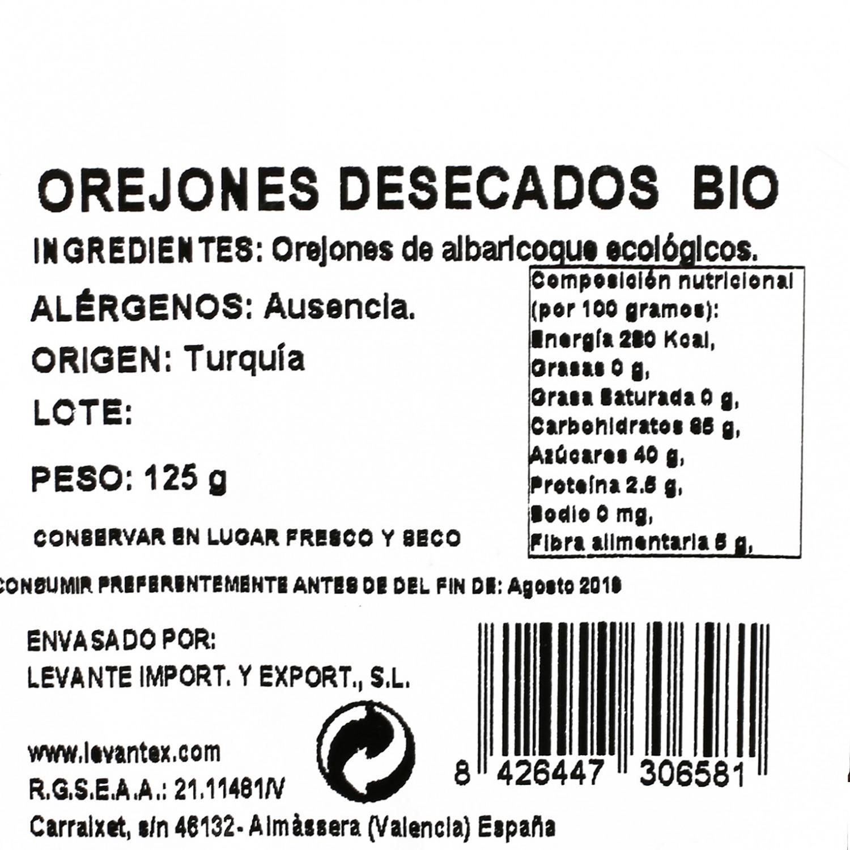 Orejón albaricoque ecologico Carrefour granel tarrina 125 g - 3