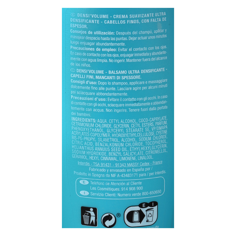 Crema suavizante densificante para cabellos finos - 2