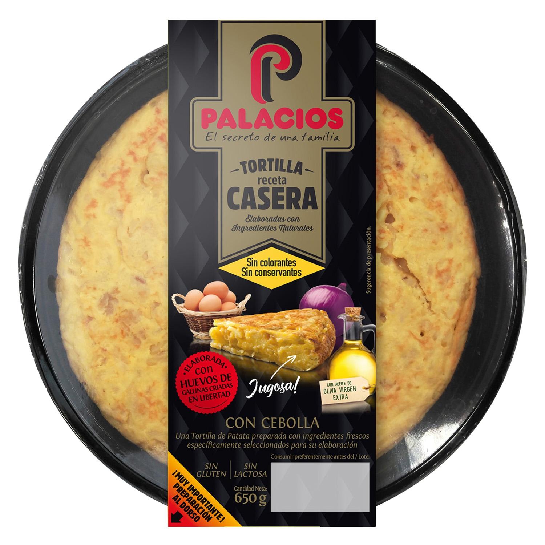 Tortilla con cebolla Palacios sin gluten y sin lactosa 650 g.