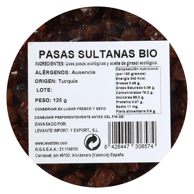 Pasa sultana ecológica Carrefour granel tarrina 125 g - 3