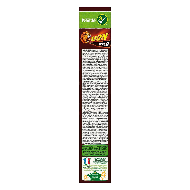 Cereales con chocolate y caramelo Lion Nestlé 410 g -