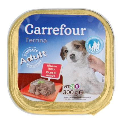 Alimento Húmeda para Perro Buey 300Gr, Carrefour