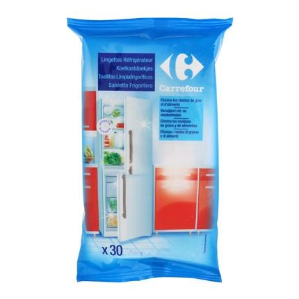 Toallitas limpieza frigorífico Carrefour 30 ud.