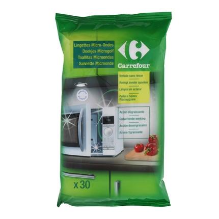 Toallitas limpieza microondas Carrefour 30 ud.