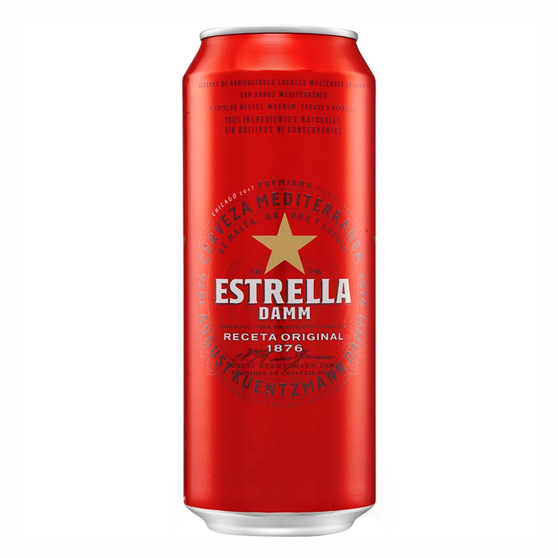 Cerveza Estrella Damm mediterránea lata 50 cl.