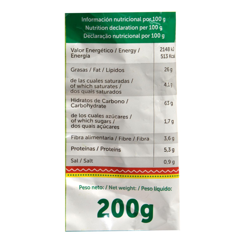 Nachos sabor queso Mexifoods 170 g. -