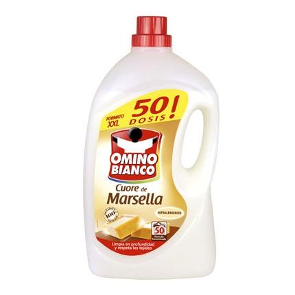 Detergente marsella liquido Omino Bianco 50 lavados.