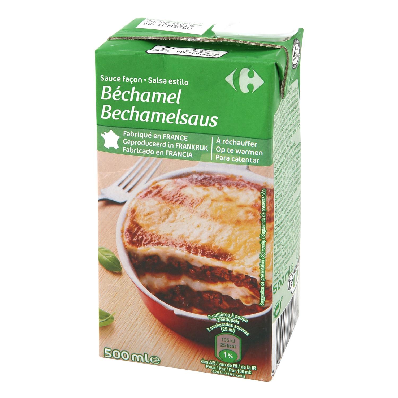 Salsa bechamel Carrefour brik 500 ml.