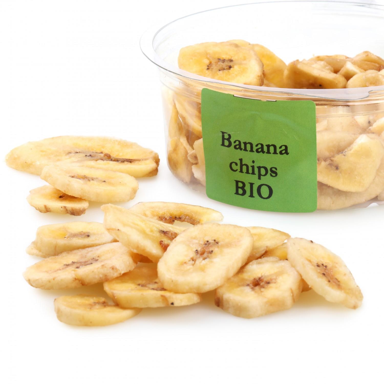 Banana chip ecológica Carrefour granel tarrina 90 g