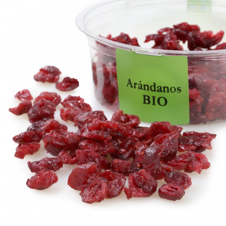 Arandanos rojos ecológico confitado Carrefour granel 125 g