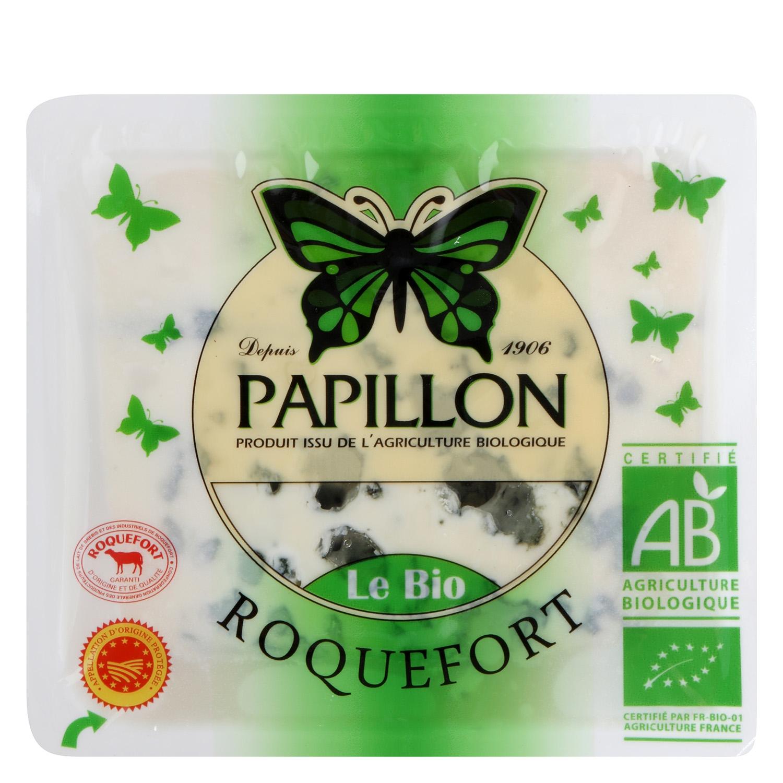 Queso roquefort ecológico D.O.P Papillón cuña 100 g - 2