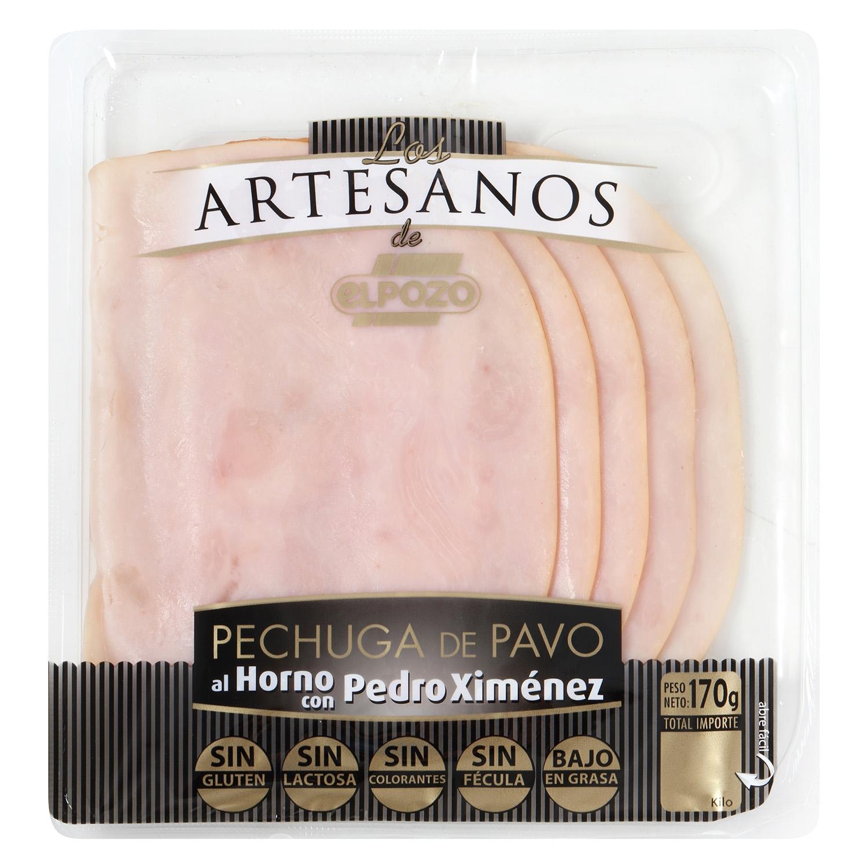 Pechuga de pavo al horno Pedro Ximenez loncheada Los Artesanos El Pozo envase 170 g
