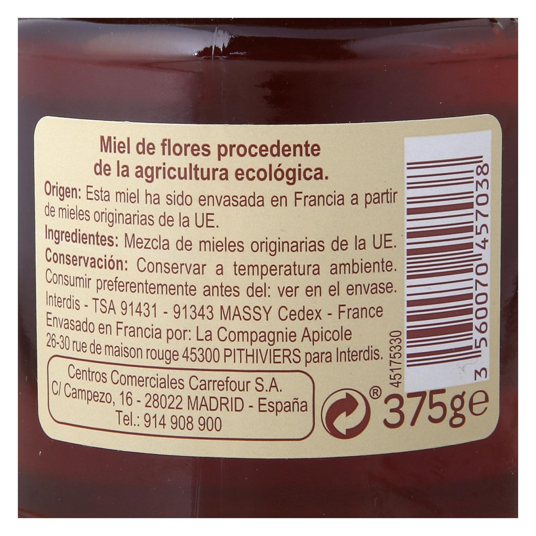 Miel de flores ecológica Carrefour Bio 375 g. -