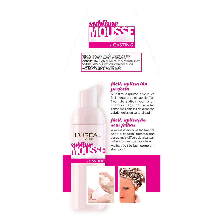 Tinte nº 70 Castaño muy claro Natural L'Oréal Sublime Mousse 1 ud. -