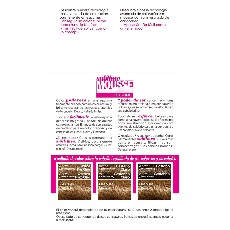 Tinte nº 70 Castaño muy claro Natural L'Oréal Sublime Mousse 1 ud. - 2