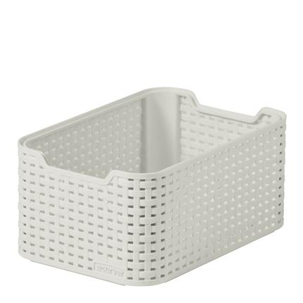 Cesto blanco 7 litros relieve efecto Rattan Mod. Style