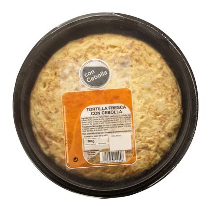 Tortilla fresca con cebolla -