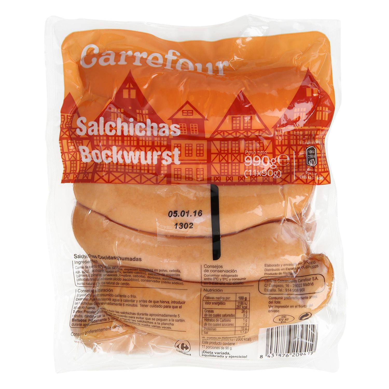 Salchiichas bockwurst Carrefour 990 g.