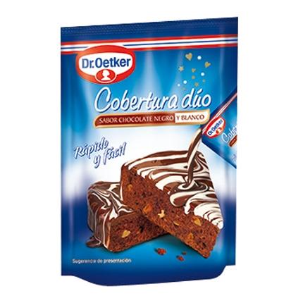 Cobertura dúo sabor chocolate negro y blanco Dr. Oetker 100 g.