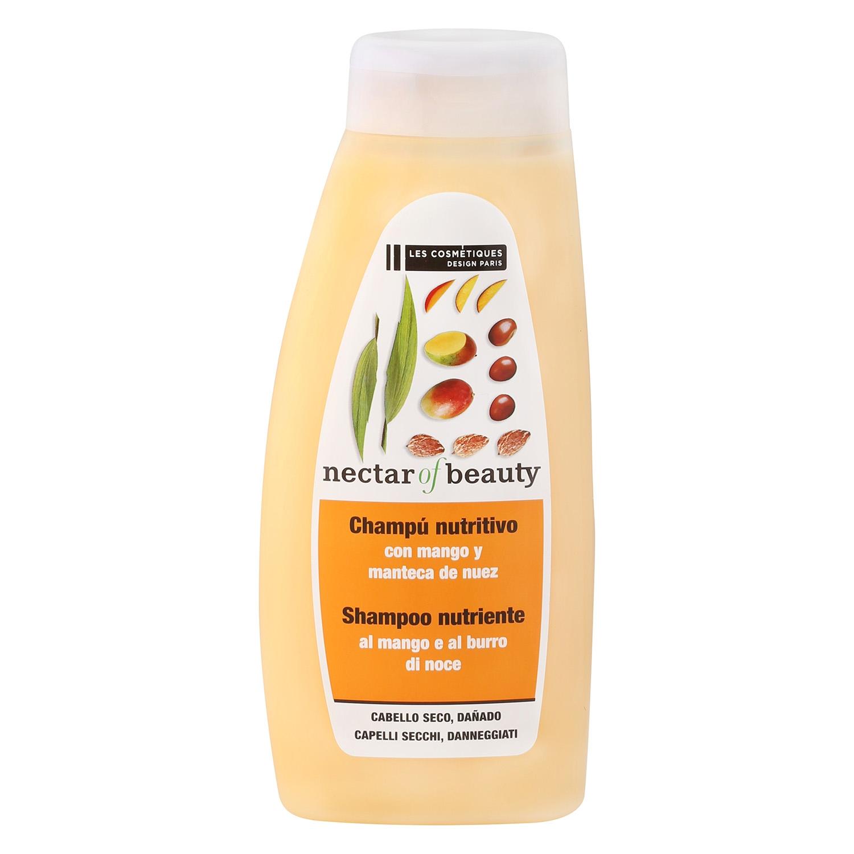 Champú Mango & nuez para cabello seco Les Cosmétiques -Nectar of Beauty 500 ml.