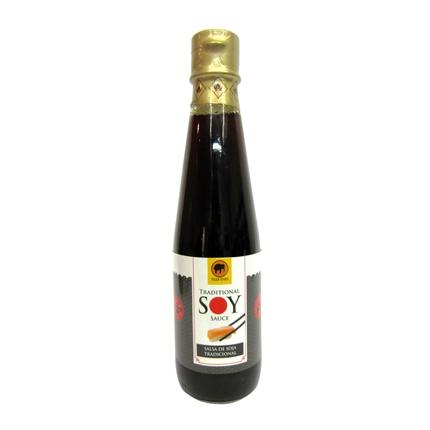 Salsa de soja tradicional botella