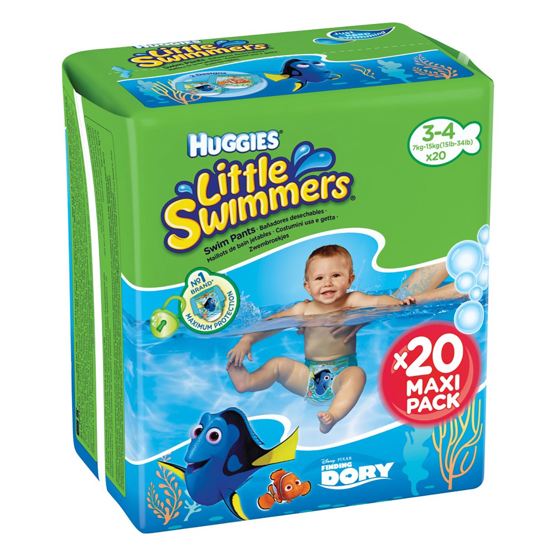 Pañales bañador desechable T3-T4 Huggies Little Swimmers 20 ud.