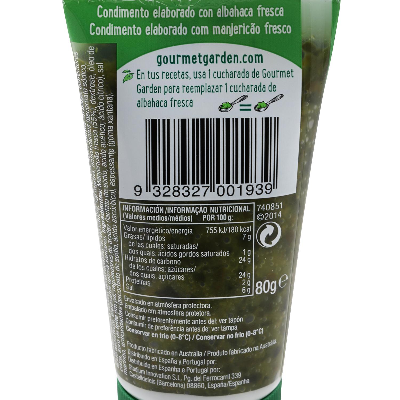 Albahaca tubo Gourmet Garden 80 g -