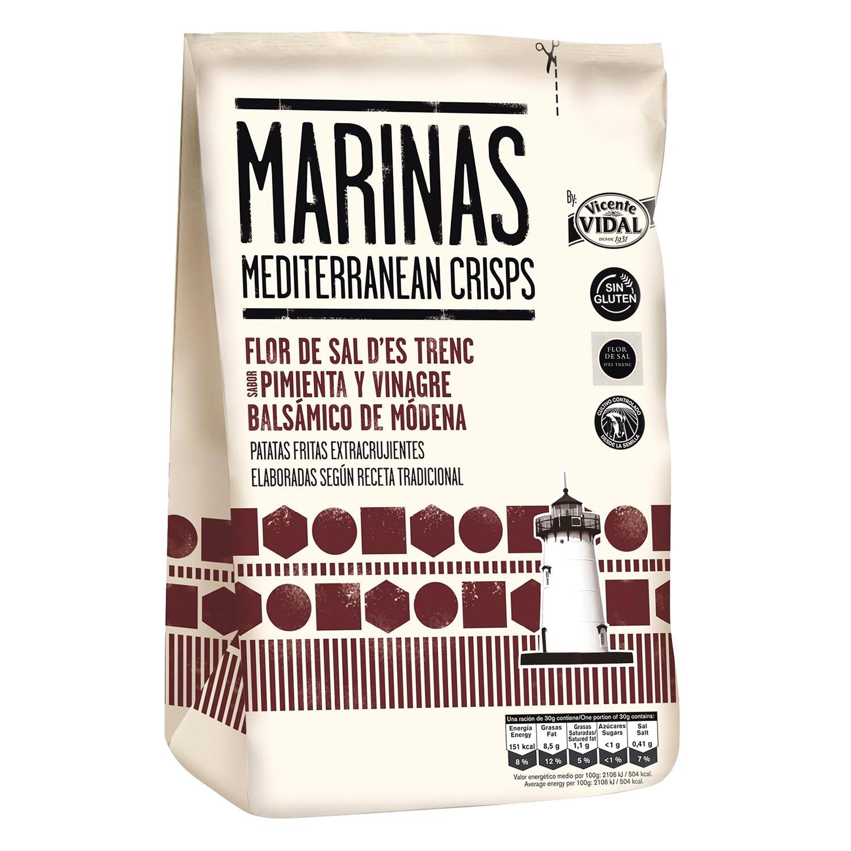 Patatas fritas pimienta y vinagre balsámico Marinas