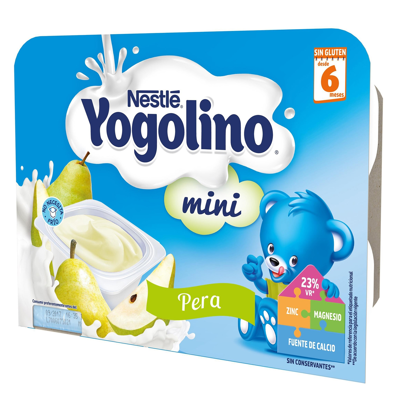 Preparado lácteo de pera Nestlé Iogolino pack de 6 unidades de 60 g. -