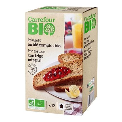 Pan tostado con trigo integral ecológico