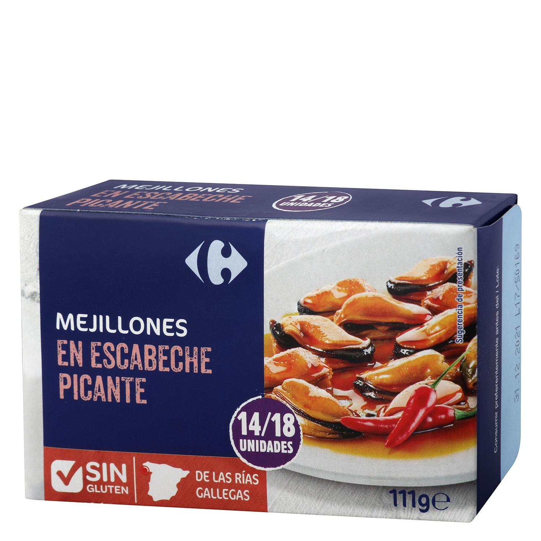 Mejillones en escabeches picantes 14/18 - Sin Gluten