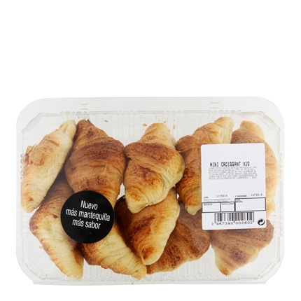 Croissant mantequilla mini Carrefour 10 ud -