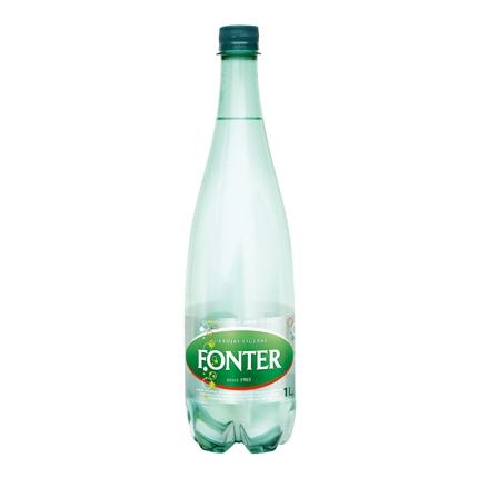 Agua mineral Fonter natural con gas 1 l.