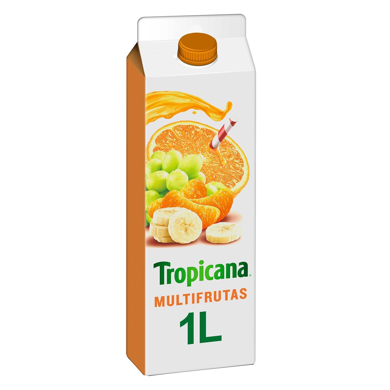 Zumo multifrutas Tropicana brick 1 l.