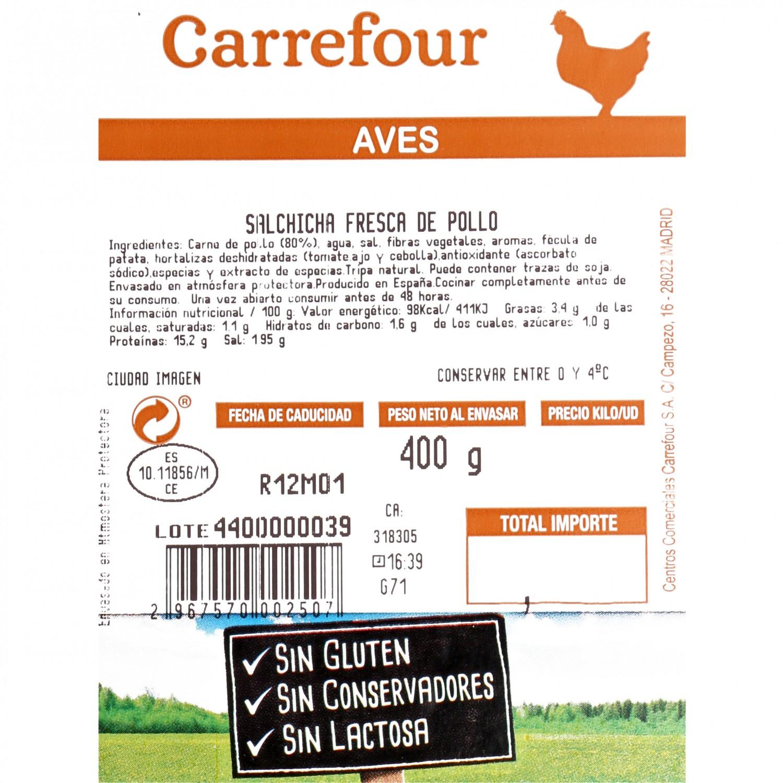 Longaniza Fresca de Pollo Carrefour 1 ud  - 3