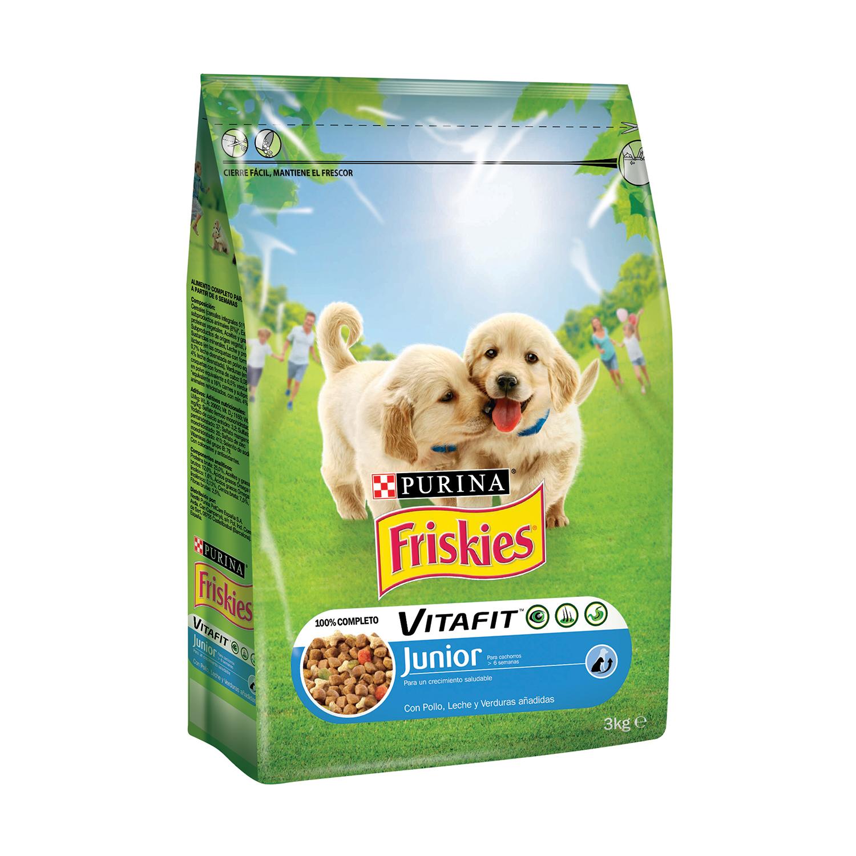 Comida para perros Junior con Leche y Pollo Friskies - Carrefour ...