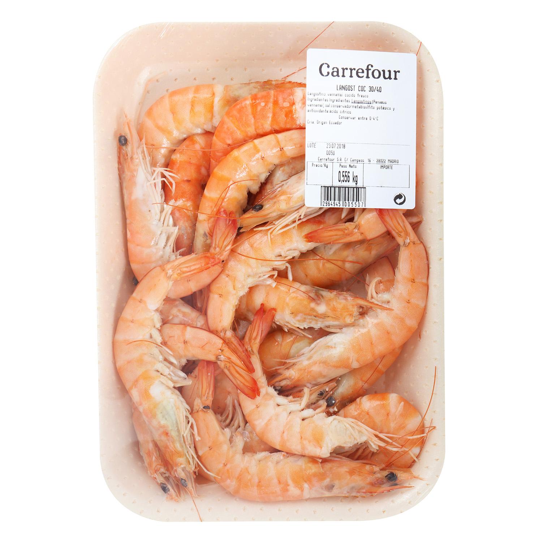 Langostino cocido Carrefour (30/40 ud) 400 g  - 2