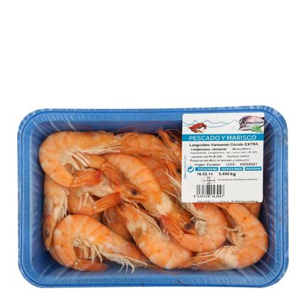 Langostino cocido Carrefour (30/40 ud) 400 g  -