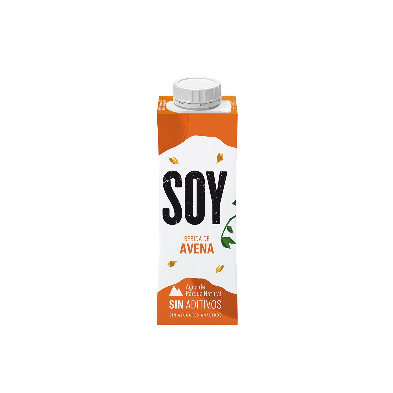Bebida de avena sin azúcar añadido YoSoy pack de 3 briks de 250 ml. -