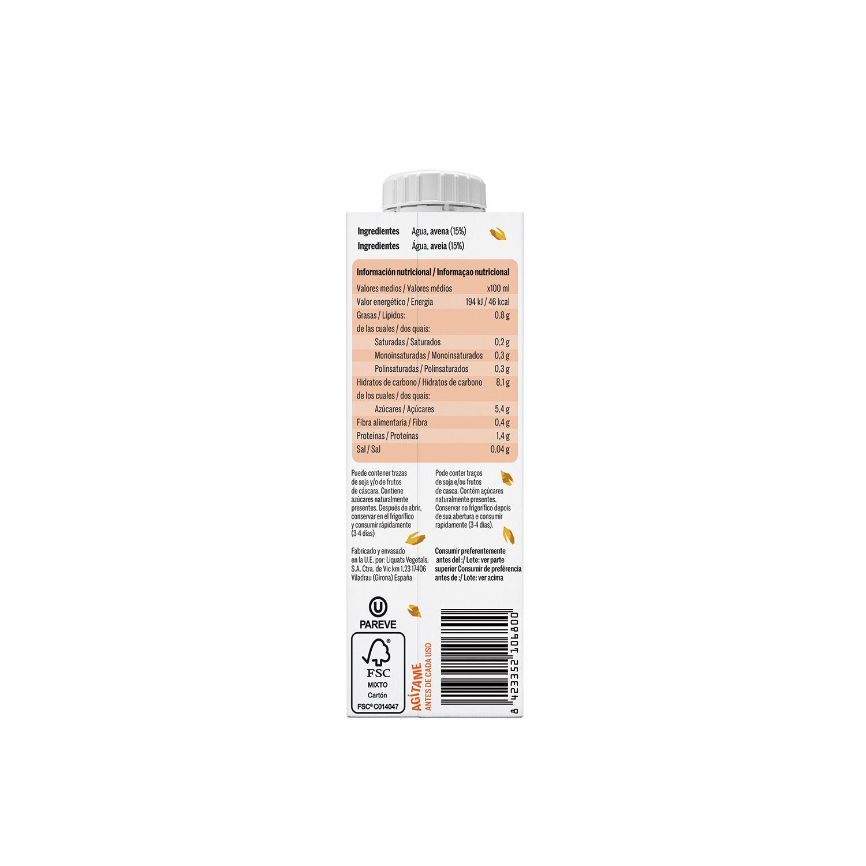 Bebida de avena sin azúcar añadido YoSoy pack de 3 briks de 250 ml. - 2