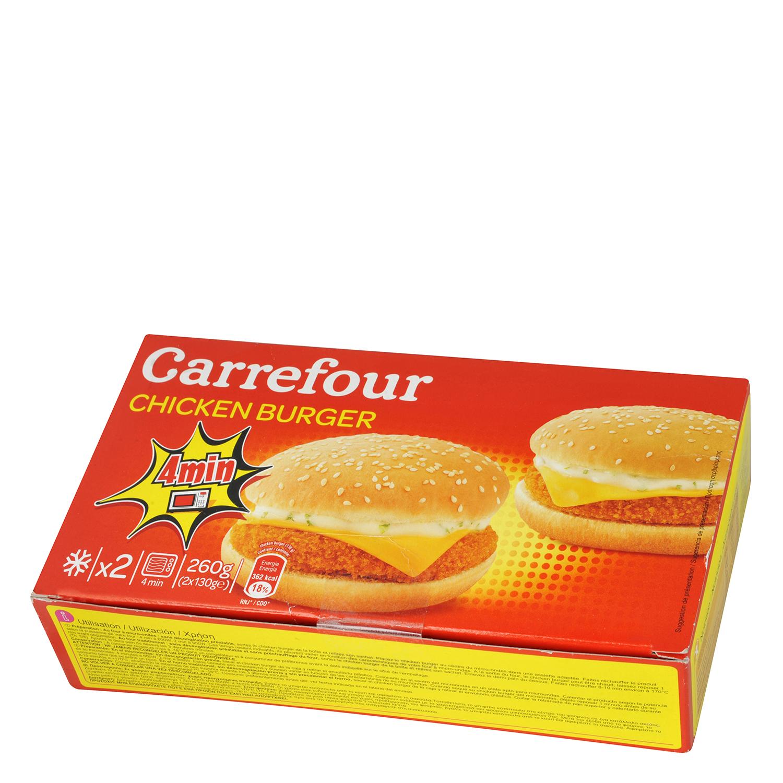 Hamburguesa de Pollo Carrefour (2x130g) 260 g