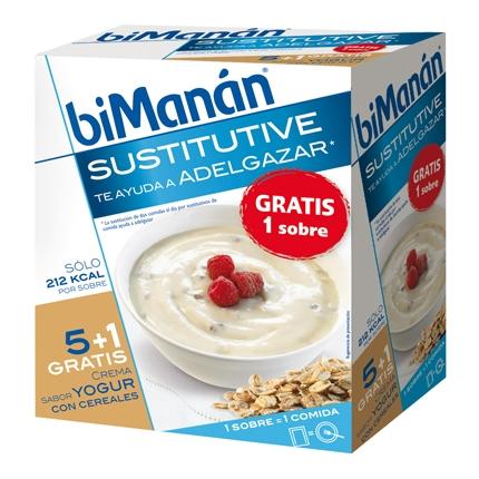 Crema sabor yogur con cereales