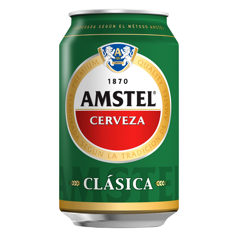 Cerveza Amstel Clásica lata 33 cl.