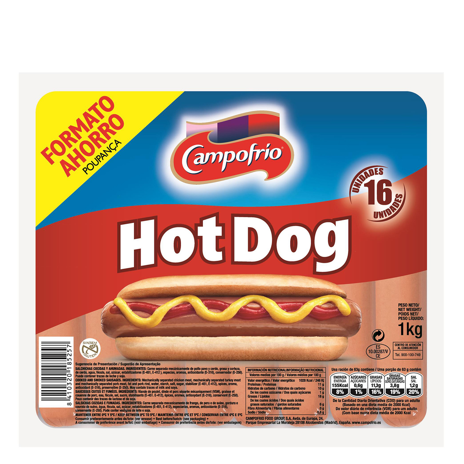 Salchicha Hot Dog