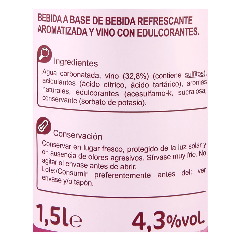 Tinto de verano clásico Carrefour 1,5 l. -