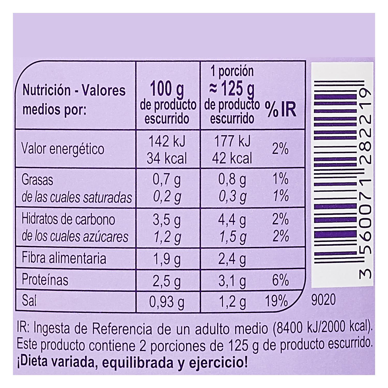 Corazones de palmitos Carrefour 250 g. -