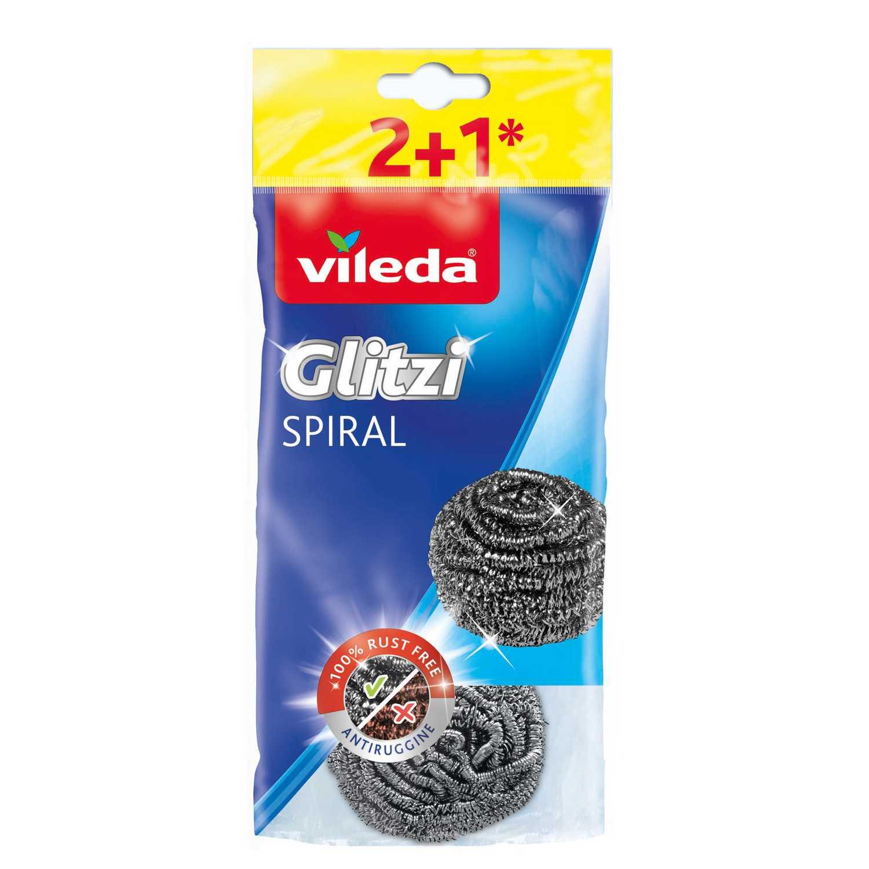 3 Estropajos Inox Glitzi VILEDA  - Metalizado